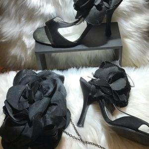 Nina Shoes and evening handbag